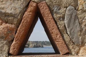 Platja dins d'un triangle
