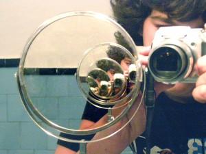 Progresión geométrica a través del espejo
