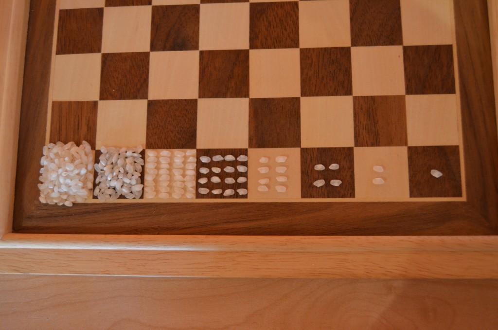 Títol: La llegenda del tauler d'escacs, una progressió geomètrica Autor: Júlia Luna Minguell Categoria: Batxillerat i ESPO Any: 2015 (accèssit) Centre: Institut El Castell (Esparreguera)