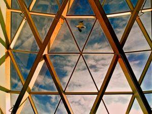 Triangulació d'un hexàgon a vista d'ocell
